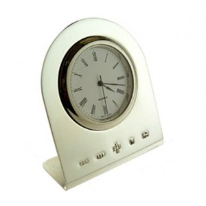 hallmarked sterling silver desk clock