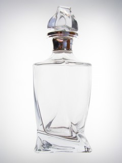 hallmarked silver cut glass whisky decanter
