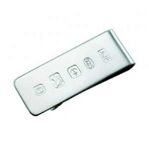 hallmarked silver money clip with feature hallmark