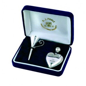 heart shaped hallmarked silver perfume bottle