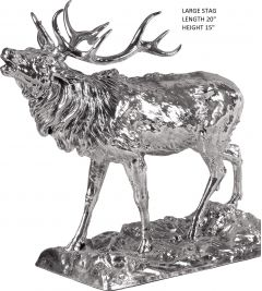 Hallmarked Silver Large size Stag Figurine