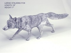 Large Size Hallmarked Silver Stalking Fox Model