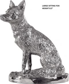 Hallmarked Silver Sitting Fox Model