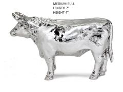 Hallmarked Silver Medium Size Bull Figurine