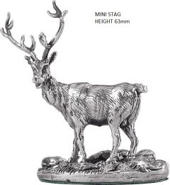 Hallmarked Silver Miniature Stag Model