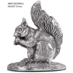 Miniature Hallmarked Silver Squirrel Figure