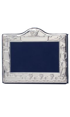 Hallmarked Silver Toy Theme Christening Photo Frame