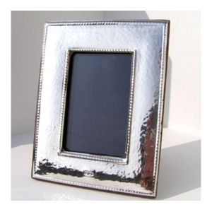 hallmarked sterling silver arts and crafts style frame