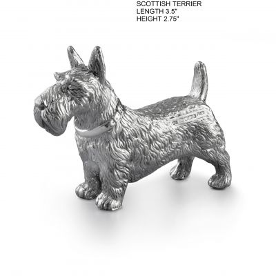 Hallmarked Silver Scottie Dog Figurine