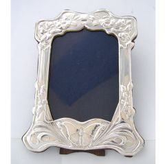 Sterling Silver Art Nouveau Photo Frame