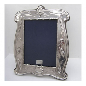 art nouveau style sterling silver photo frame