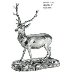 Hallmarked Silver Small Stag Model