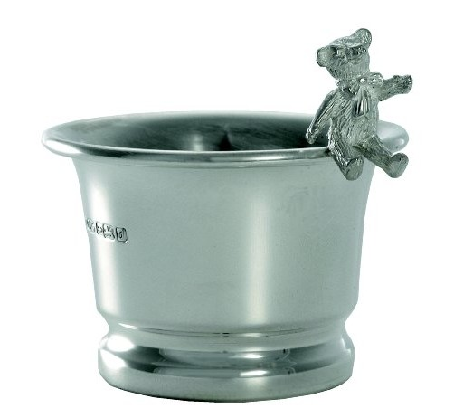 hallmarked silver teddy bear and bunny rabbit egg cups